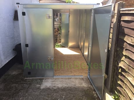 Double motorcycle shed, motorbike steel shed