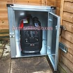 Generator storage shed, made to measure out of 1.2mm galvanised steel strong and secure