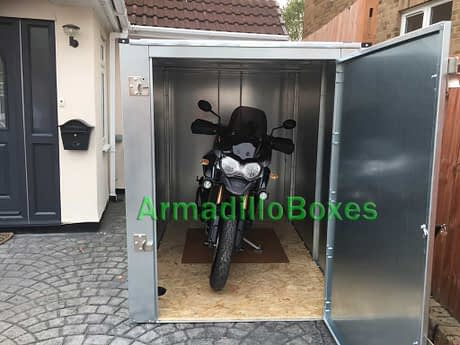 Motorcycle shed secure motorbike store