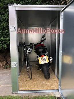 Space in 4ft wide motorcycle shed